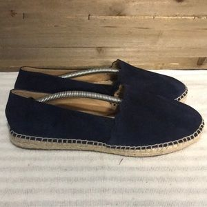 Talbots Bohemian Navy Suede Loafers